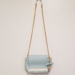 Badgley Mishka Chain Shoulder Bag Crossbody Blue